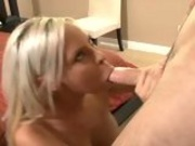 Hot married chick Tatum Pierce gets her mouth hooked up on a meaty cock