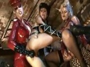 Whores Bobbi Eden and Sarah Twain having a dirty time with a lesbian girlfriend