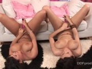 Jasmine Black and her hot girlfriend masturbating together their pink pussies