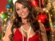 Lusty santa Charlie Laine looks gorgeously hot for some horny Christmas pleasure