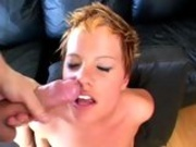 Cum crazy whore Emily Davinci awaits a hot explosion of cum on her face