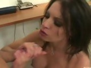 Sluty Latina Vanessa Lane Has Her Pussy Pumped And Wanks Off Cock In Her Mouth