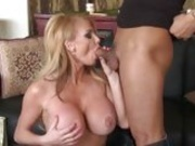Juicy babe Taylor Wane eagerly takes a juice cock lingering in her sultry mouth