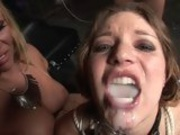 Cum thirsty Aurora Snowgets her mouth filled with man milk and loves it