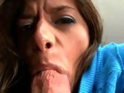 Madelyn Marie stretches her mouth round a monster cock