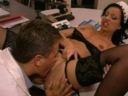 Hot Naomi Cruise loves big hard bklack cock fucking her tight wet pussy