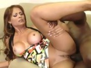 Juicy babe Monique Fuentes gets rammed by a monstrous cock on the couch