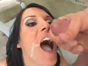 Jennifer Dark rams a toy in her pussy as she gets fucked in the ass