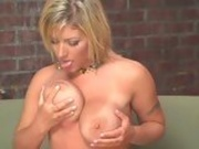 Big boobed Velicity Von enjoys fondling on her giant bazoombas