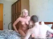 Russian Blonde Enjoys Cock From her BF