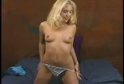 Blondie Strips & Masturbates