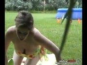Huge big-tit amateur naked in public