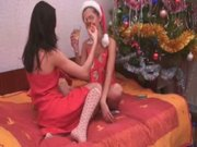 Perfect xmass chicks pleasuring