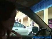 Teen Stripping in Public