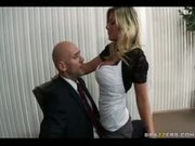 Big-Tit Blonde Milf fucks & sucks coworkers big cock in office