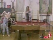 Amateur sluts playing strip pool