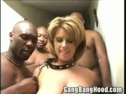 Busty MILF gets blackend at party