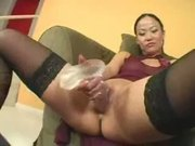 Nice Asian couch fuck by afro dick