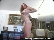 Gabriella striptease and fingering on the couch
