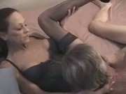 Skinny Mature Bitch in Stockings gets Fucked