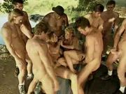Crazy country gangbang