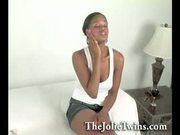 Two Black Twins - Breast Exam