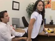 Big Breasted Asian Gets Her Papers Filled