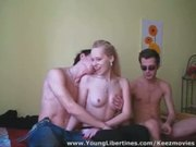 Real threesome orgy