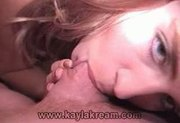 Kayla sucking her boyfriend