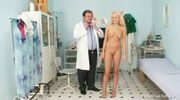 Gorgeous blond babe pussy gyno exam