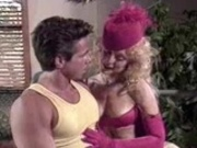 Tight blonde pornstar in a vintage shot with Peter North
