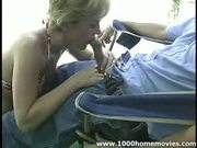 Blonde Mom Has Excellent Blowjob Skills