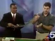 News Reporter Goes Crazy