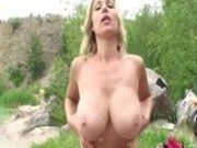 Carol Goldnerova masturbating on her trip to known lake