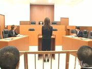 Perfect Japanese babe pumped in court