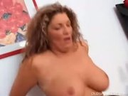 Big tits mature amateur fucked by a black man