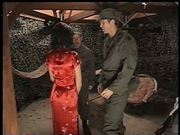 Hot latina fucks two unsuspecting soldiers