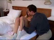 Hot french teen awakened and then fucked