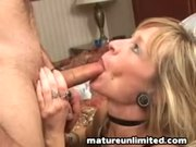 Mature Mom Gobbles The Dick