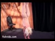 Small tits blonde hanged upside down and spanked