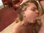 Big Load On Her Nasty Slut Face