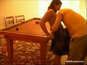 Homemade sex on the pool table