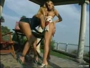 Hot lesbo strap-on action