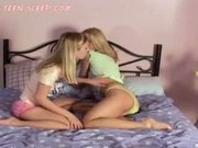 Blonde Teens Caressing