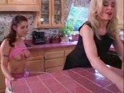 MILF Lesbians in the Kitchen