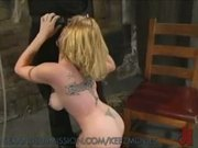 Big titted blond submits to rough play and bondage
