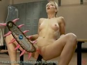 Solo Blonde Fucked By Fuck Machine