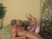 Holly Halston Fucks And Blows Him At The Same Time!!!