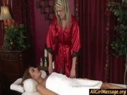 Girl girl massage turns hardcore