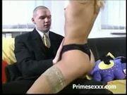 Tight blonde lap dance
